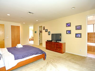 Another angle of the Master Bedroom: 42 in. TV w/ all the premium channels