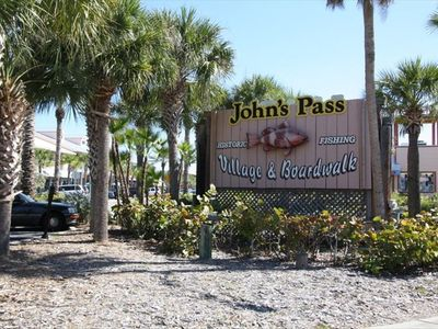 World Famous Johns Pass just across the street with dozens of shops/restaurants