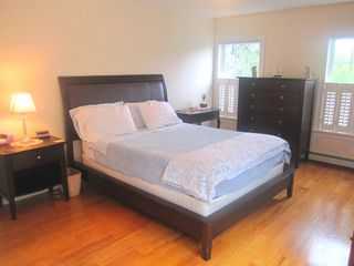Oak Bluffs house photo - Master Queen bedroom with private deck! (2nd floor)