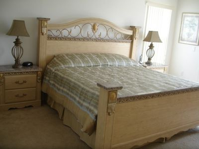 Florida Master Suite, 7 foot wide king bed!