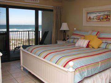 Oceanfront Master Bedroom with King size bed & new tempurpedic foam mattress...