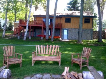Burt Lake cabin rental - Cabin Lake Side & Fire Pit