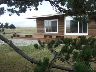 Astoria house photo - The house is surrounded with pines, grasses and dunes - ocean down private path
