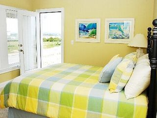 North Topsail Beach house photo - First floor queen bedroom suite w/ private balcony
