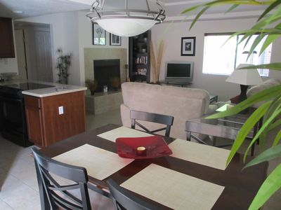 Wonderful open living area, dining for 6, cable TV, DVD, beautifully appointed.