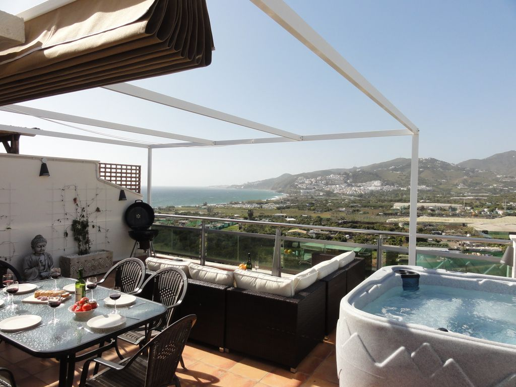 Luxury penthouse nerja beach 100 meters from beach large for 100 terrace moss beach ca