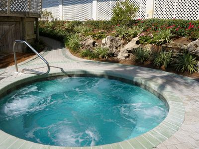One of the hot tubs at Edgewater.