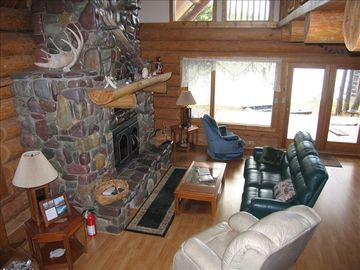 Columbia Falls chalet rental - Overlooking the fireplace