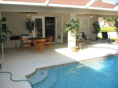 North Port house rental - Pool and covered Lanai