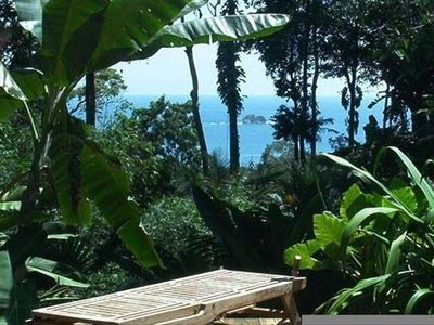 view in front of pool of Ballena National Marine Park and my gardens