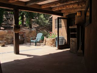 Santa Fe house photo - On the entry patio