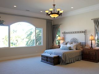 Rancho Santa Fe estate photo - Guest Home Master Bedroom - King, Full Bath, Private Entrance