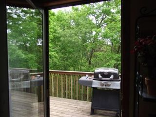 Galena house photo - Spacious Rear Deck with gas grill
