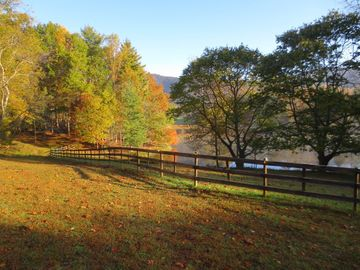 Swannanoa cottage rental - Moores Pond in the Fall