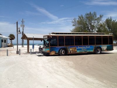 The Island Trolley covers all of Anna Maria Island & Long Boat Key.