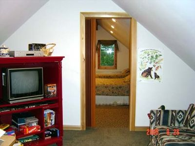 Loft with TV, Games, Card Table & Sleeper Sofa
