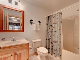 Wears Valley cabin photo - King Bathroom 3, hair dryer, shower/tub