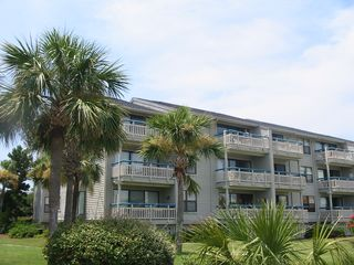 Harbor Island condo photo - Rear (ocean facing) view of the building...M-218 is the seconf floor corner vill