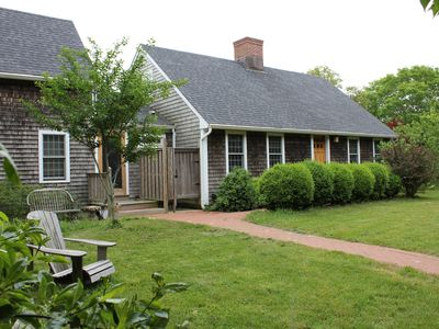 Spacious home located on a private road at the center of the Aquinnah peninsula