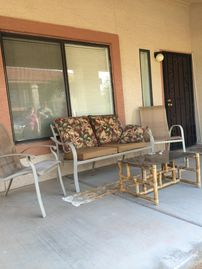 Apache Junction condo rental - Cozy porch perfect for morning coffee or evening chats.