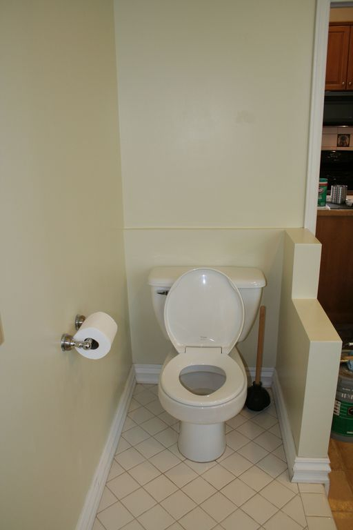 Commode area in the bathroom.