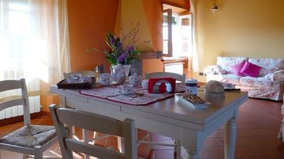 Lucca chateau / country house rental - 'Lavanda' dining area