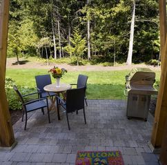 Parksville townhome photo - This Shady rear patio beckons you to relax and unwind