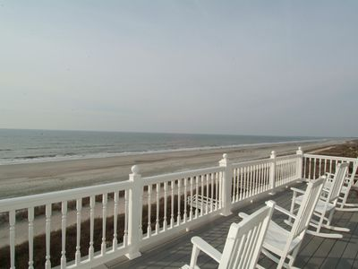 Folly Beach house rental - 3rd. floor deck looking south west.