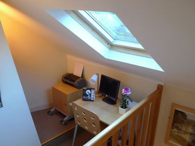 Dinan house rental - The mezzanine office area