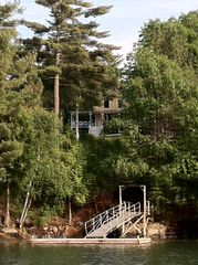 Harpswell cottage photo - Your private dock is made for swimming, kayaking or a sunset Happy Hour!!