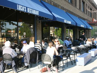 Lucia's Restaurant, Bar, and Cafe serves excellent food all day into the evening