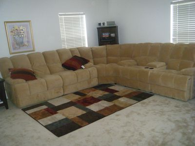 Seating in theater room