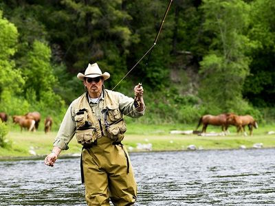 Fly fishing on the Provo River. Personal guides av
