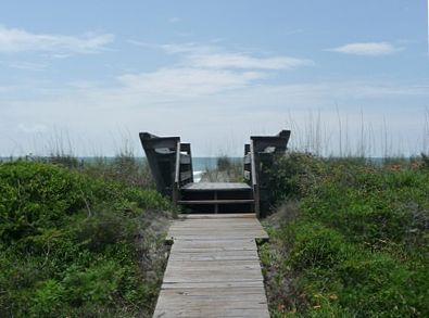 Private Walkway to Beach