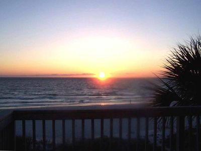Indian Shores townhome rental - Sunset Veiw from Balcony