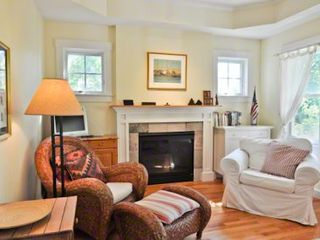 Edgartown house photo - Living Room Features Ample Seating & Gas Fireplace