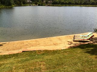 Innsbrook house photo - Enjoy the beautiful 48ft. x 12 ft. beach.