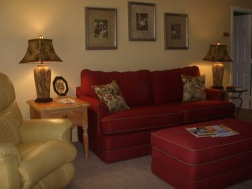 The comfortable Living Room features a La-Z-Boy sofa and recliners.