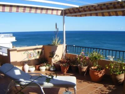 Fuengirola apartment rental - Part of Terrace great views over the sea it is very comfortable and relaxing