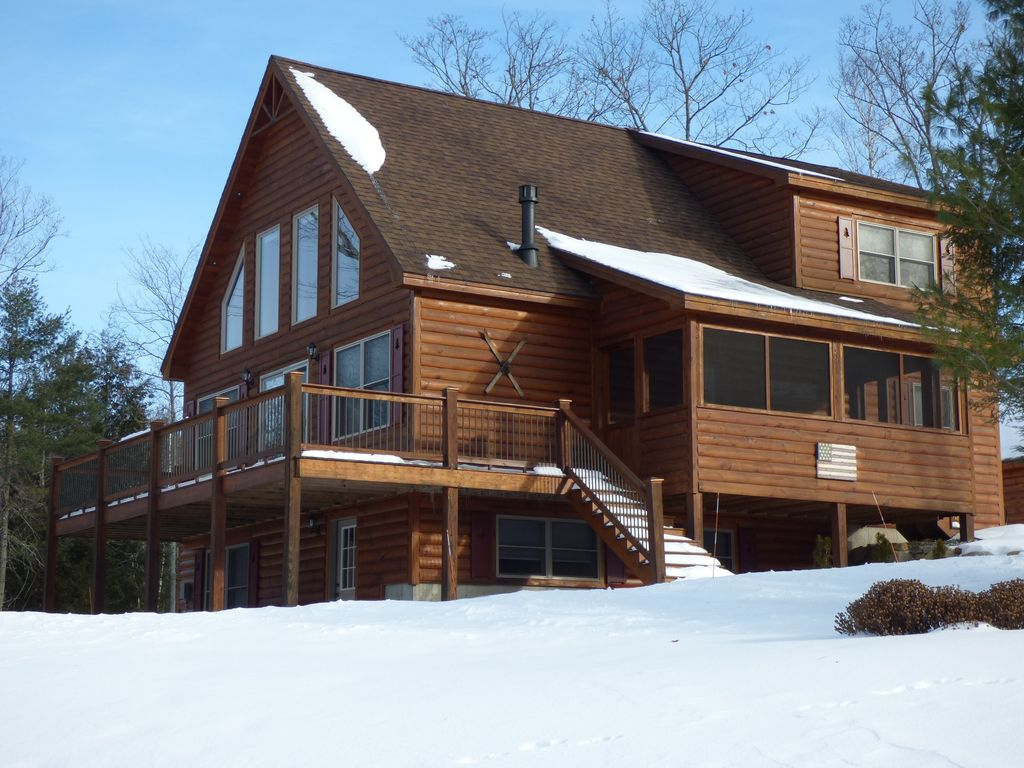 Beautiful Log Sided Home At Timber Creek Homeaway Bethel