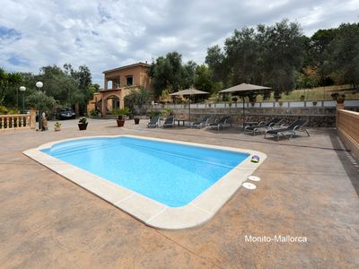 FINCA ES Corralet with private pool and 450 sqm terrace, up to 7 people.