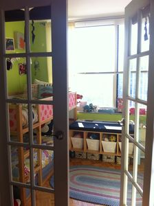 French doors to children's room
