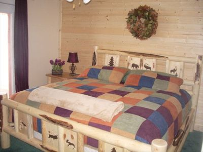 Park City cabin rental - Bedroom (King) with private, ground-level entrance