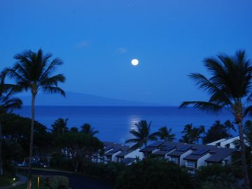 A November moonlit night at Maui Kamaole
