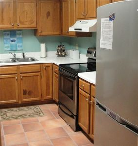 If you like to cook, enjoy our spacious fully equipped kitchen.