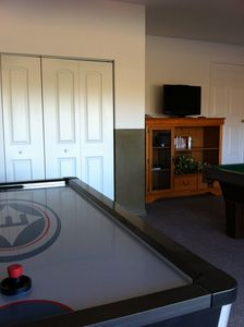 Games Room with Full Size Air Hockey and Pool Table