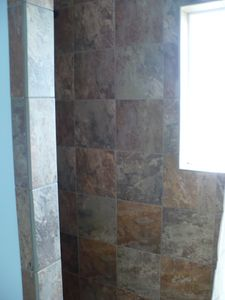 Tiled Walk In Shower Bath 1