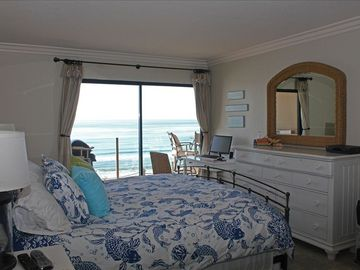 Master bedroom - California King. Watch dolphins surfing from bed. Awesome!
