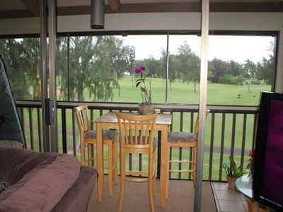 screened in lanai lets you enjoy the trade winds