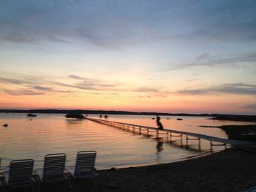 Traverse City condo rental - Beautiful night sky at the condo's beach